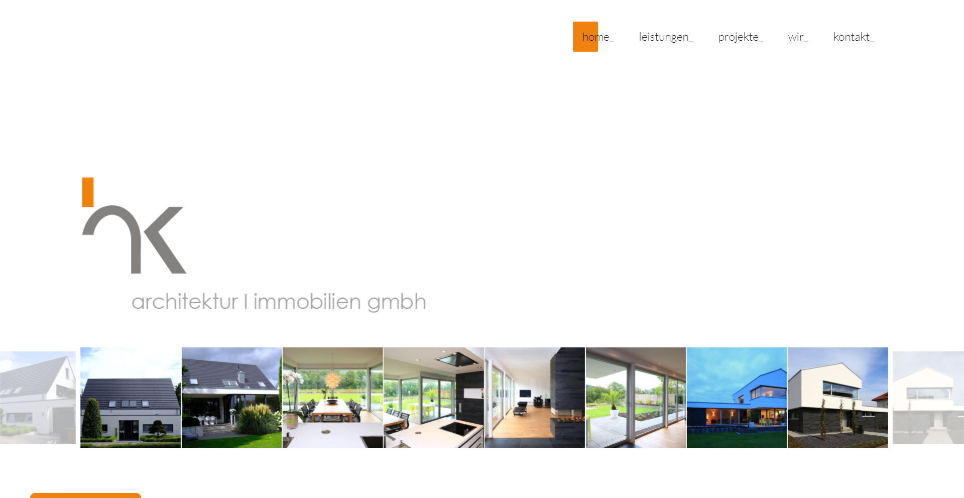 "WordPress Webdesign Referenz ""hk architektur   hk immobilien gmbh"""