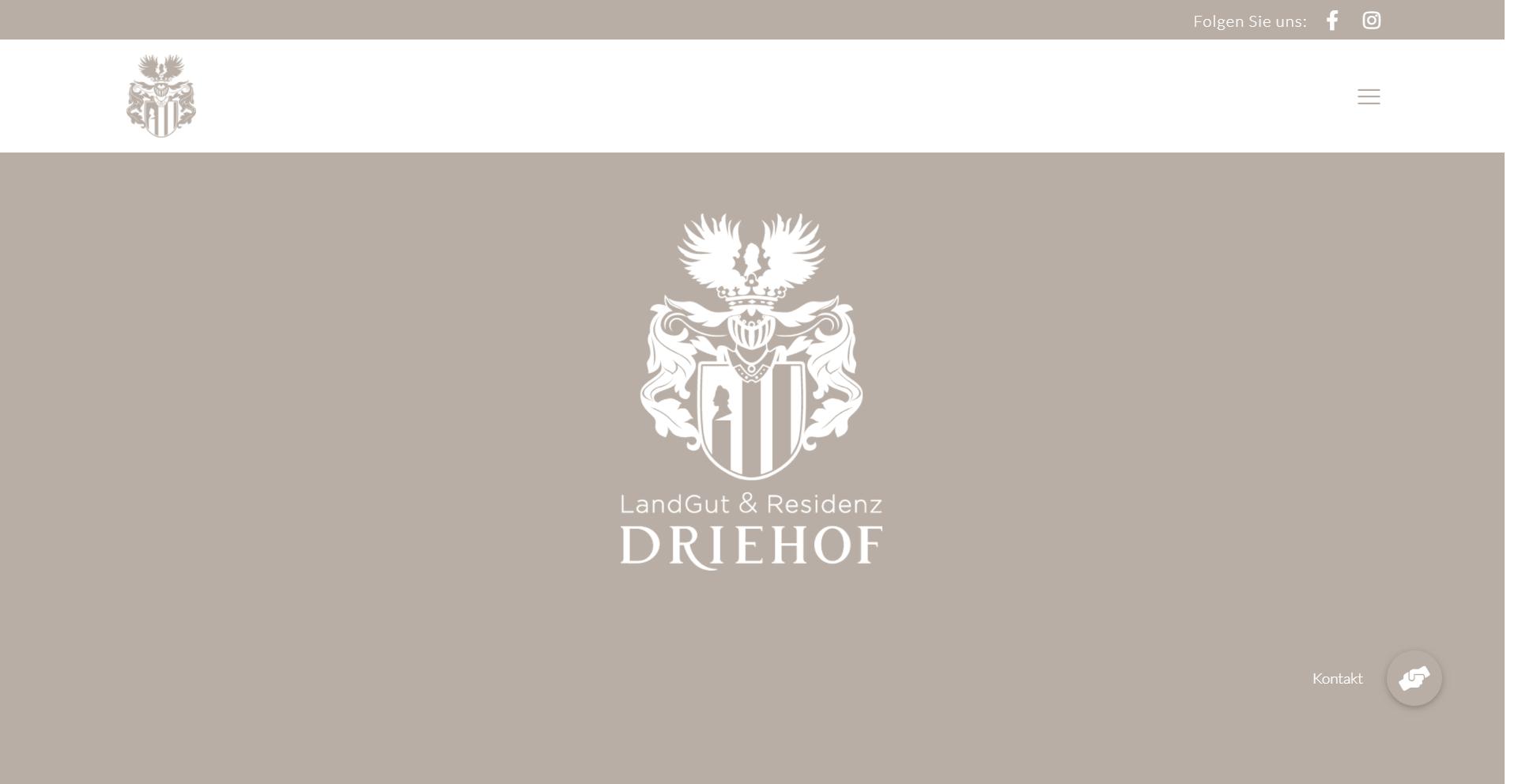 DRIEHOF, WordPress Webdesign Referenz